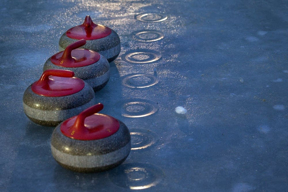Warm curling stones leave an impression.