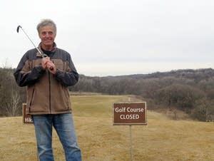 Randy Krzmarzak, part of the Friends of Fort Ridgely group