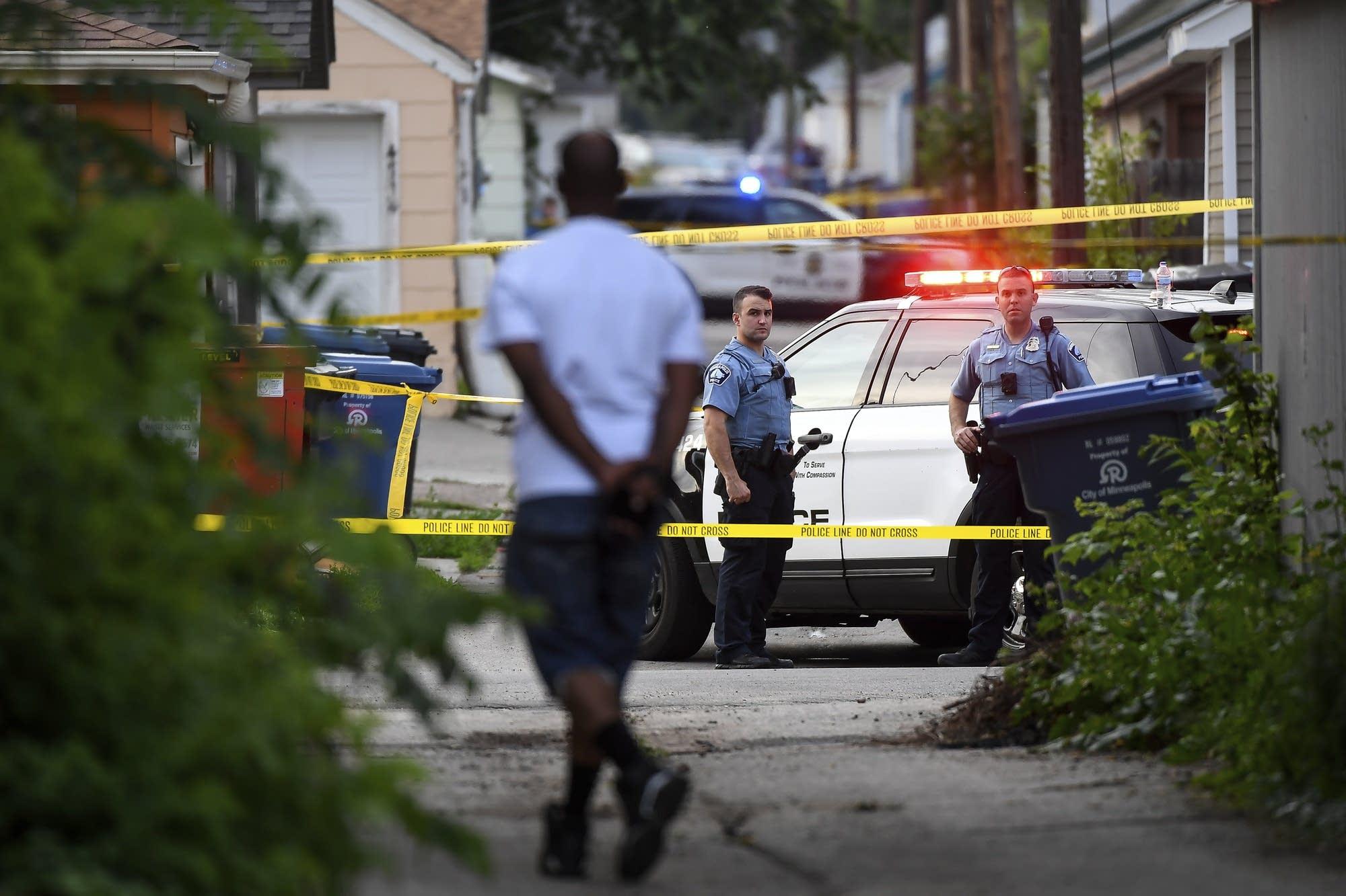 John Thompson arrives at the scene of an officer-involved shooting.