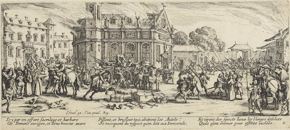 Destruction of a convent, from the suite The Miser