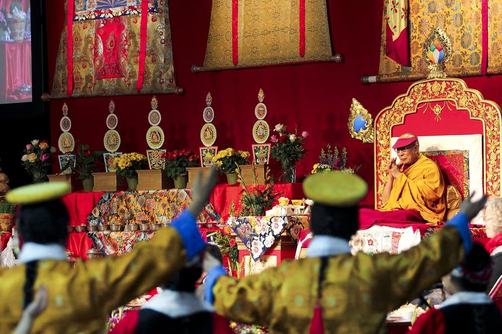 The Dalai Lama presides over celebration.
