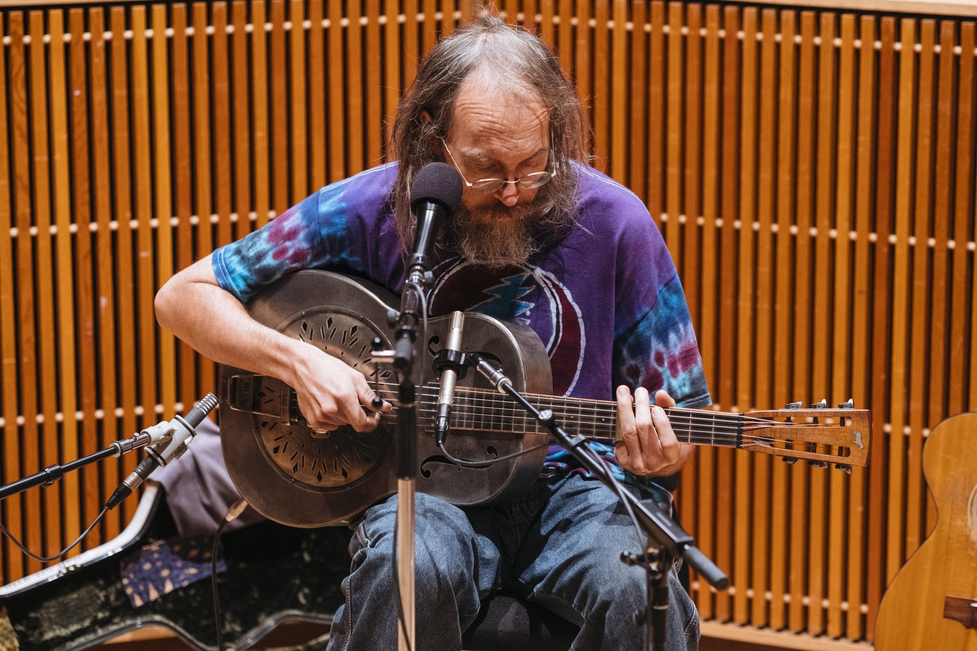 Charlie Parr performs in Studio M.