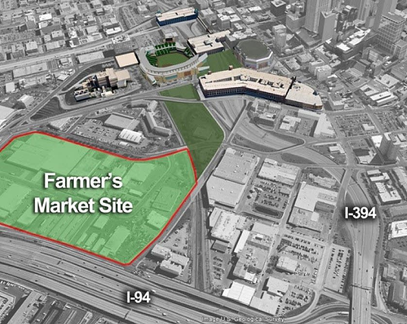 Farmer's market stadium site