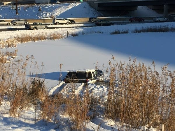 Pond car accident