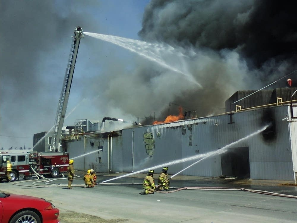Poultry plant fire