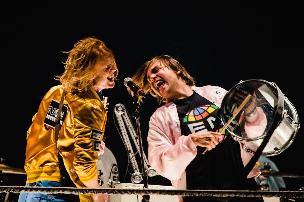 Arcade Fire perform at the Xcel Energy Center on Oct. 29, 2017.