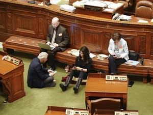 State Rep. Erin Maye Quade holds a 24-hour sit-in