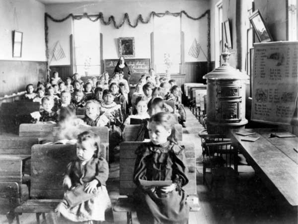 The Benedictine Sisters' mission school at White Earth, around 1900.