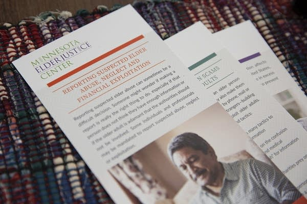 Brochures that provide information about reporting suspected elder abuse