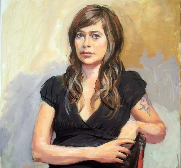 """A detail of """"Portrait of Anne"""""""