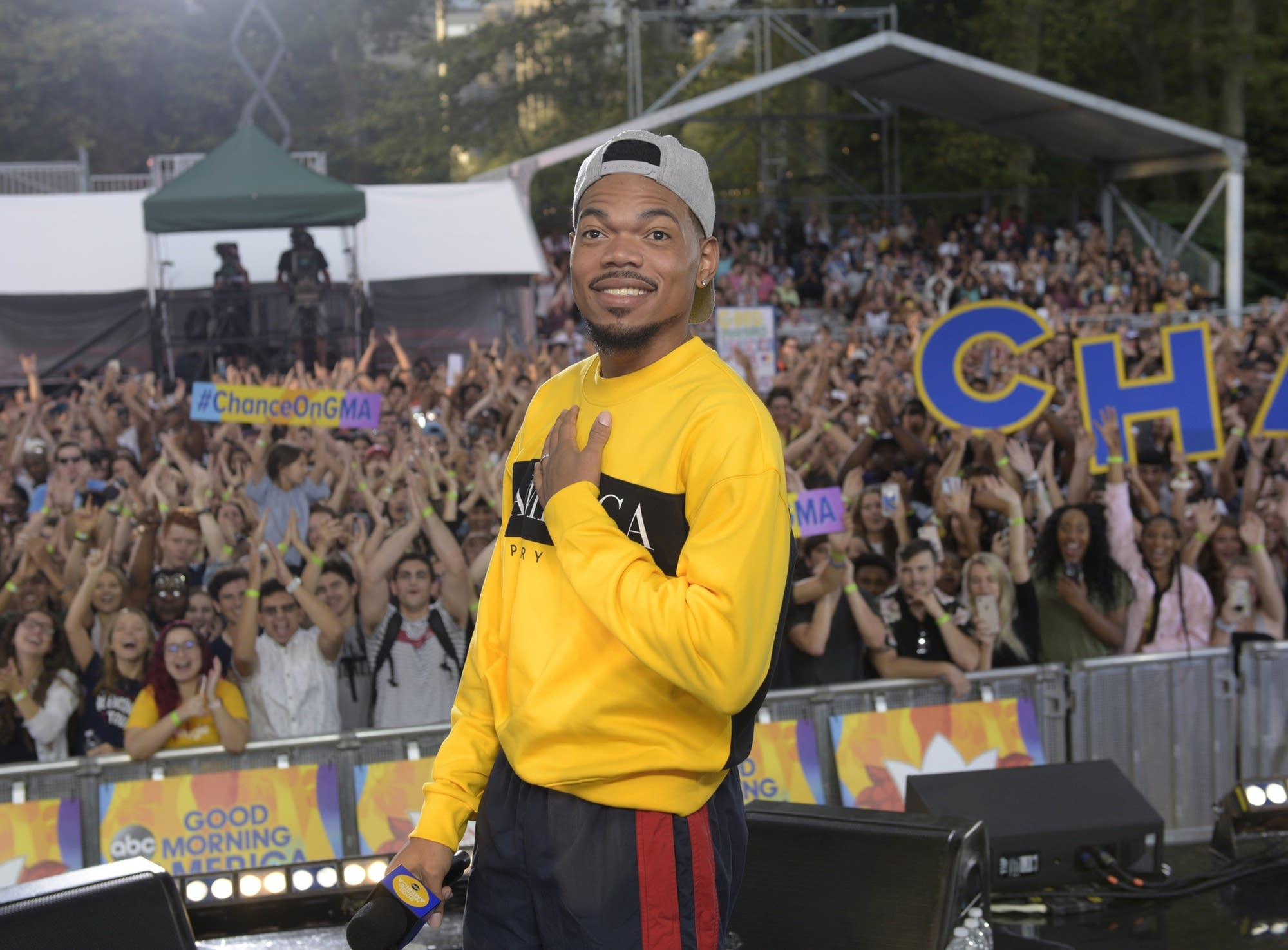 Chance the Rapper performs on 'Good Morning America' on ABC
