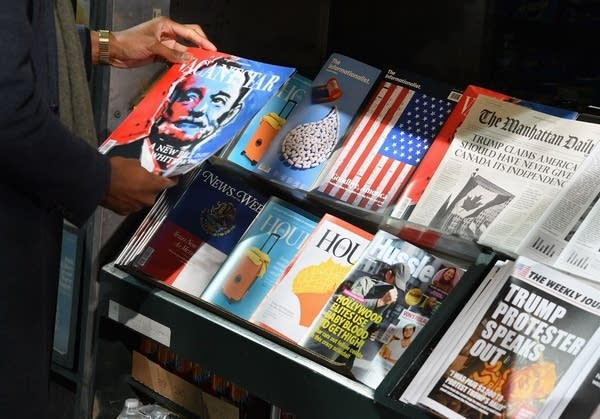 A misinformation newsstand