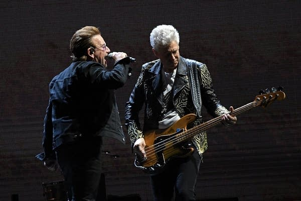 Bono and Adam Clayton