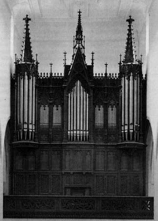 1897 Kuhn organ at the Church of Saint Johann, Schaffhausen, Switzerland