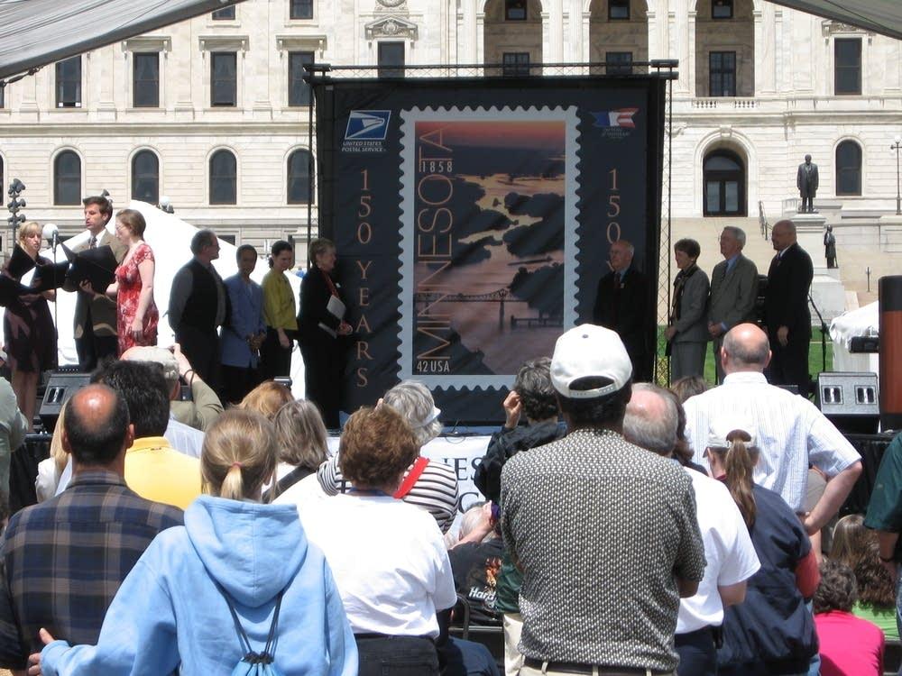 Minnesota stamp unveiling