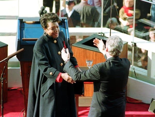 Maya Angelou at Bill Clinton's 1993 inauguration