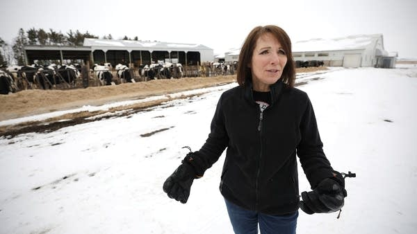 Linda Jennissen talks about the challenges of maintaining their dairy farm.