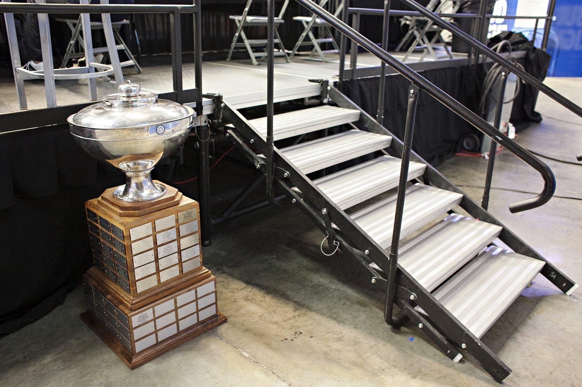 The U.S. Men's National Curling Championship trophy