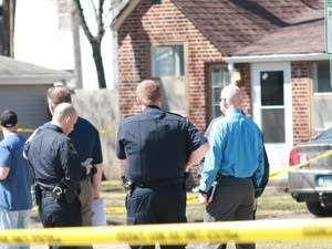 The scene of a Grand Forks home where four people were found dead.