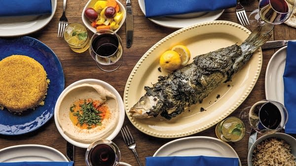 Whole Fish in Grape Leaves