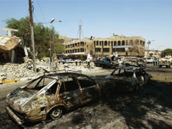 Car bombing's aftermath