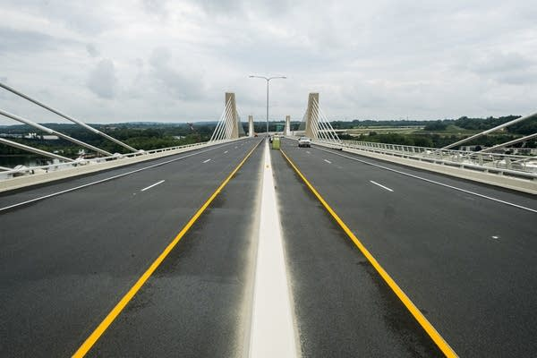The nearly finished St. Croix Crossing