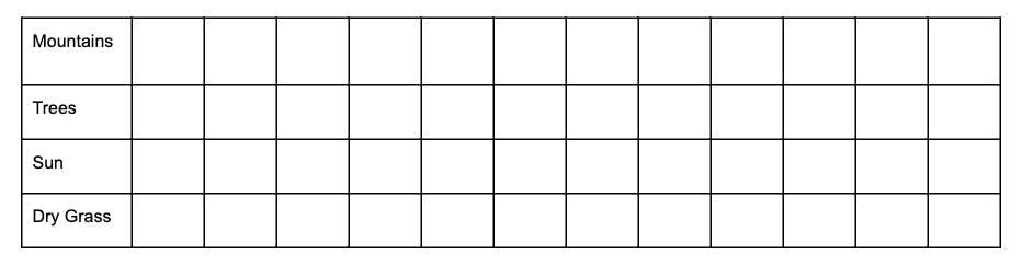 Blank composition grid