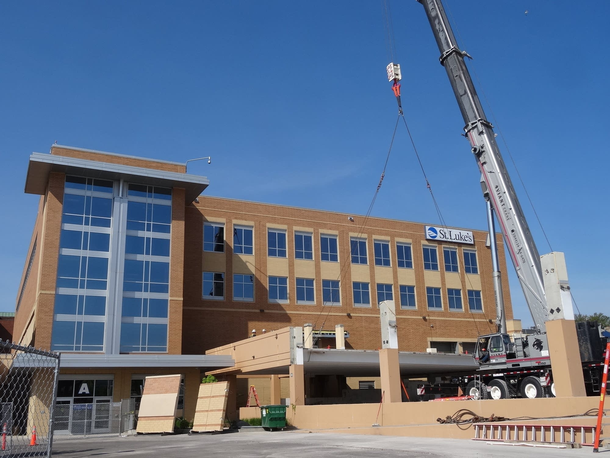 Construction is underway on the first phase of St. Luke's expansion plan.