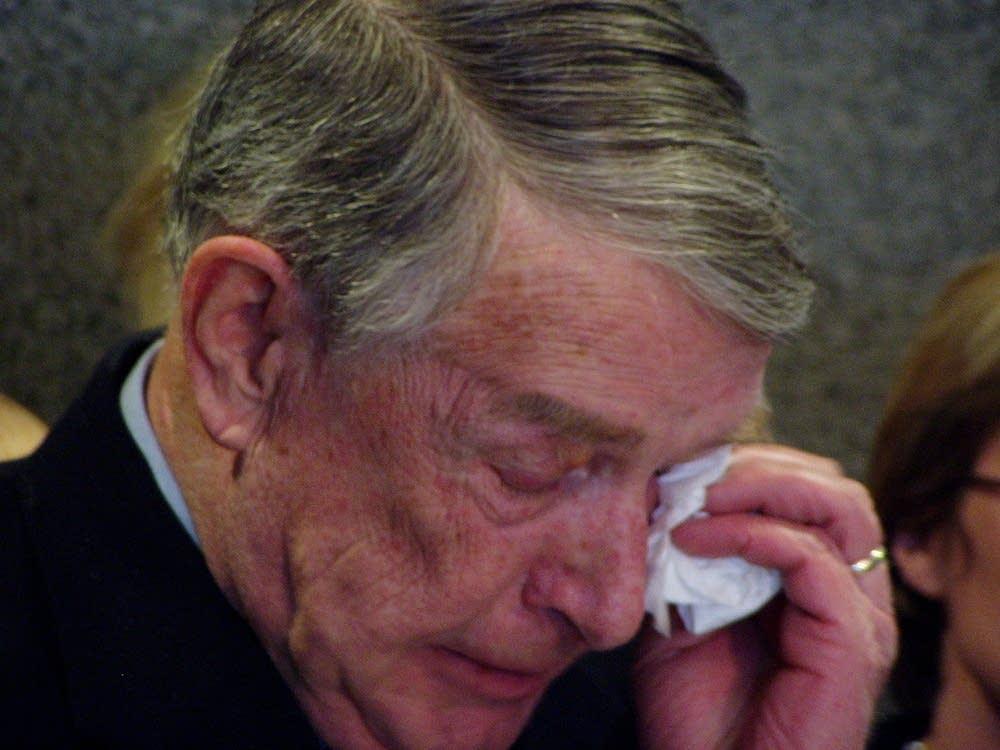 Sabo chokes back tears