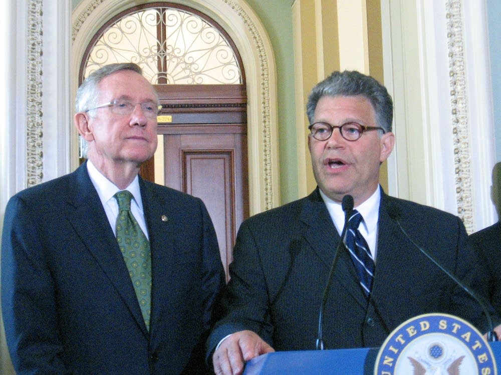 Sen.-elect Al Franken with Sen. Harry Reid, D-Nev