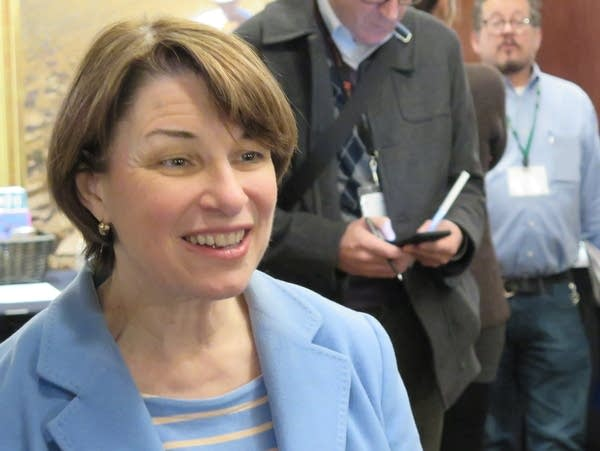 Amy Klobuchar speaks to Iowa Farmers Union