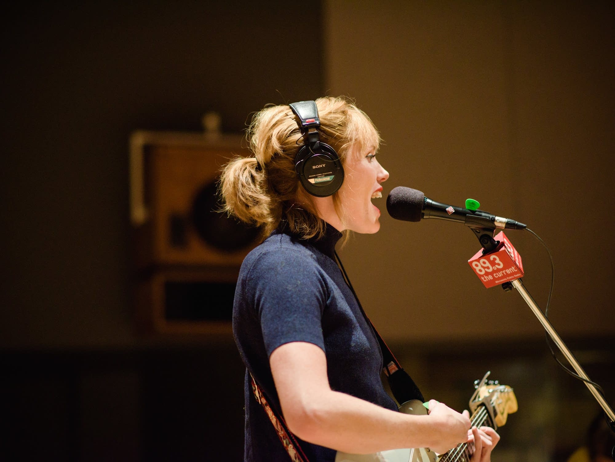 Haley Bonar performs in The Current studio