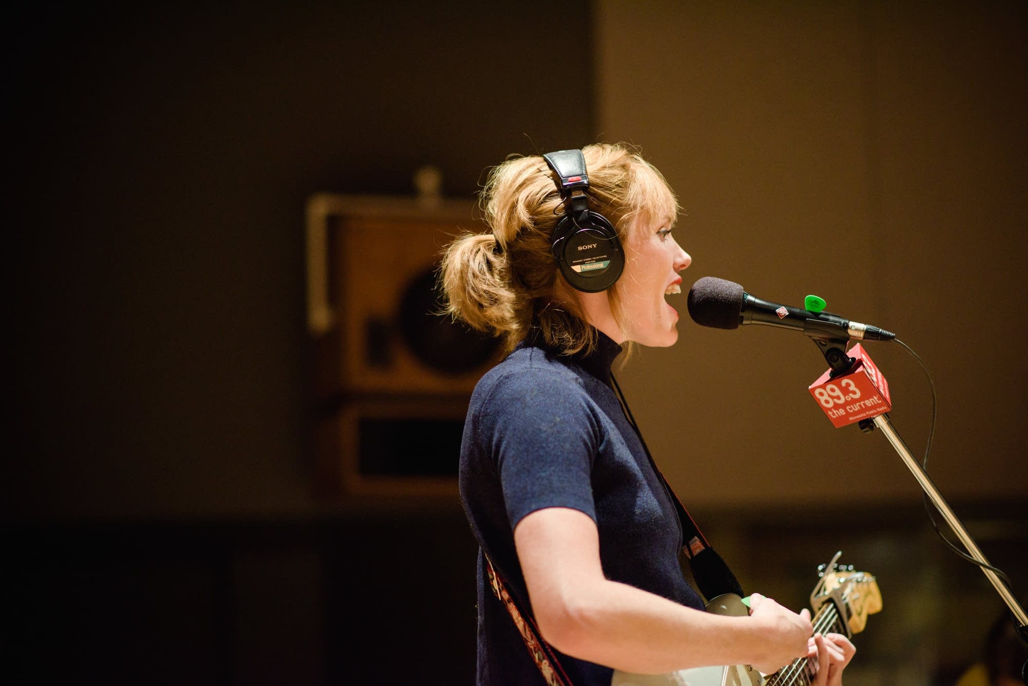 Haley Bonar performs in The Current studio