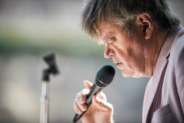 Garrison Keillor during rehearsal of the last show in 2016.
