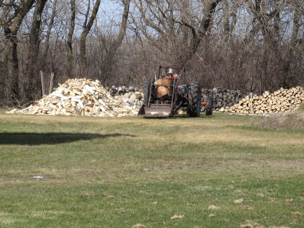The Larson's woodpile