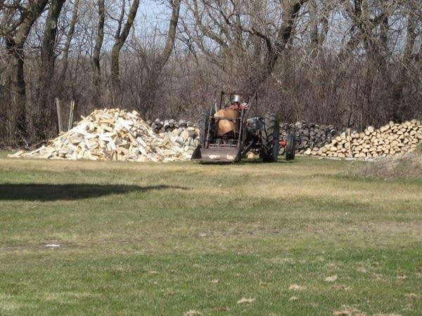 The Larson's woodpile