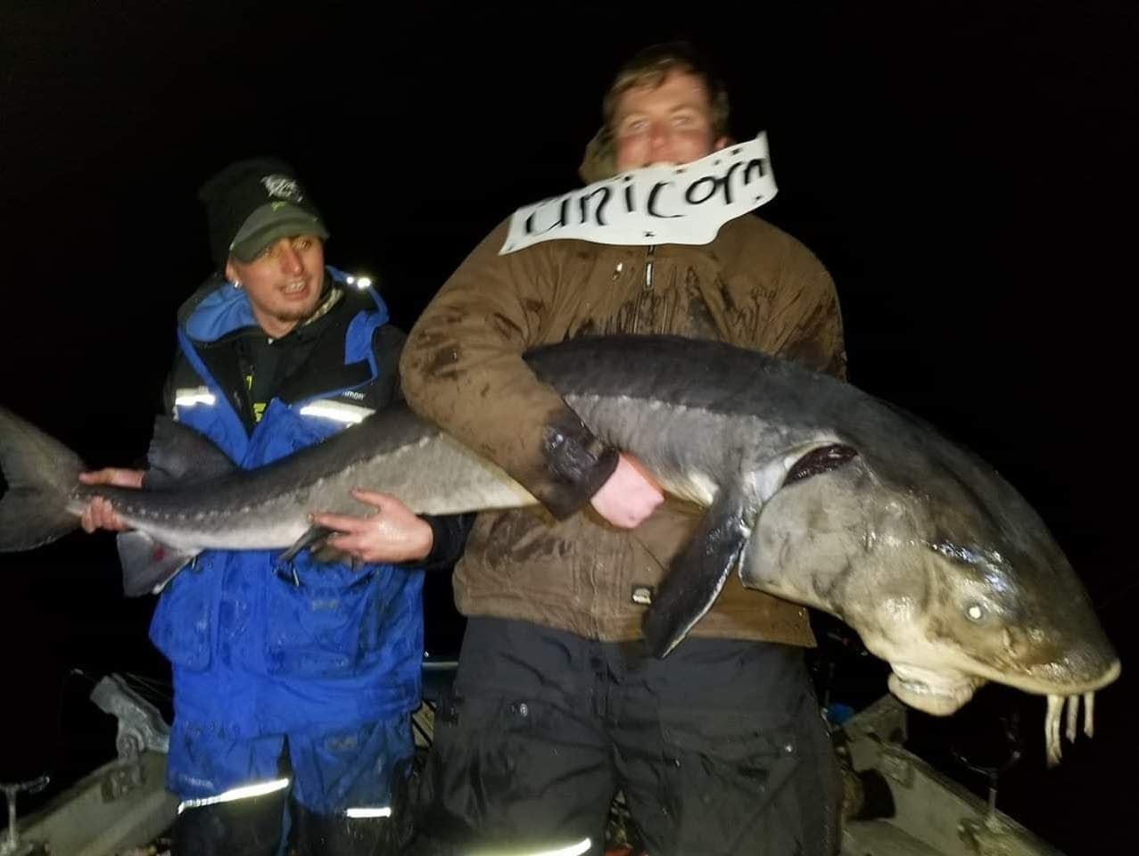 Trevor Slifka of Rochester says he may also have caught the sturgeon.