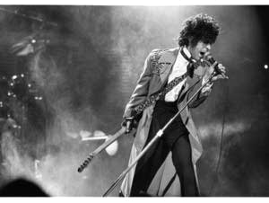 Prince at First Avenue in Minneapolis, undated.