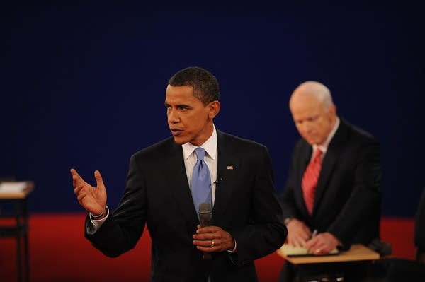 Sen. Barack Obama answers a question