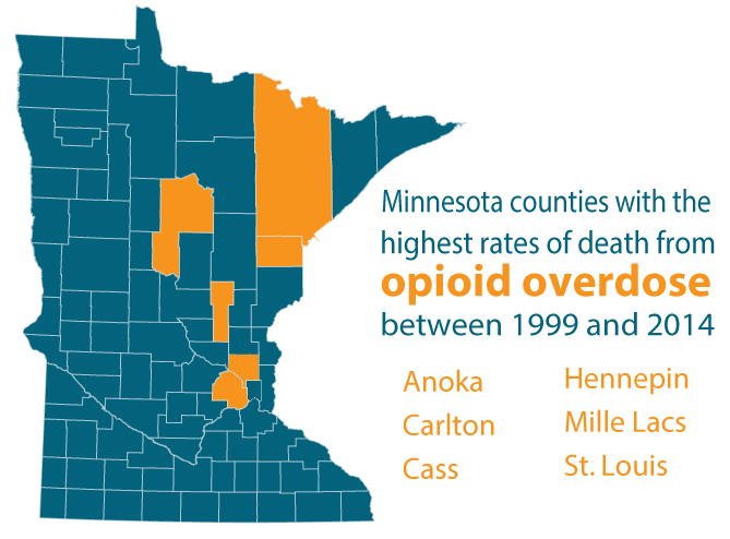 Counties with the highest estimated death rates