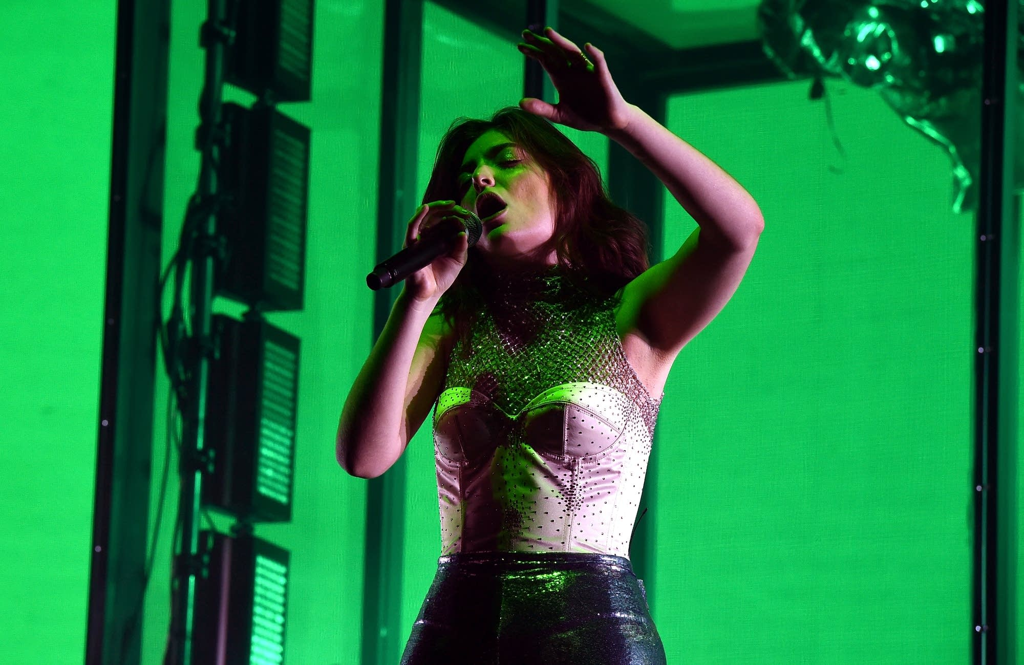 Lorde performs at Coachella on April 16, 2017.