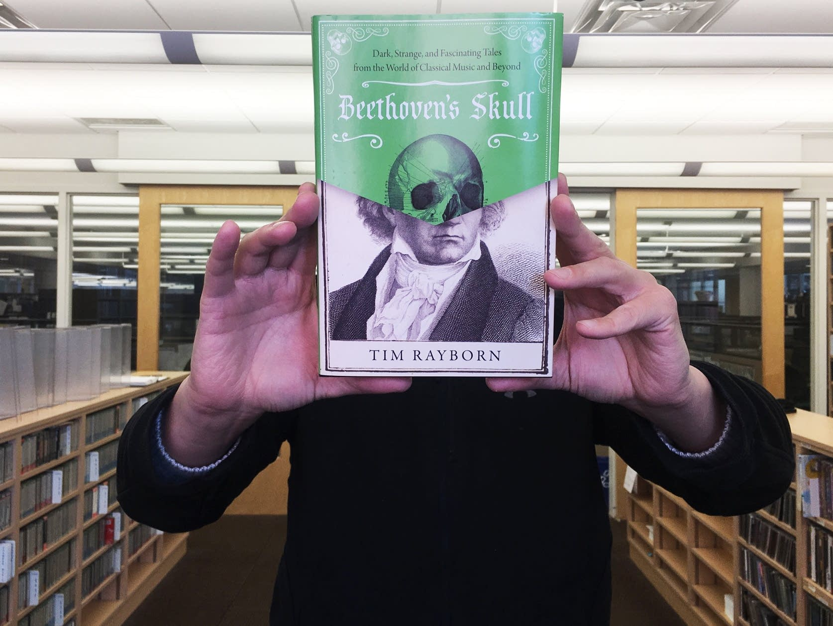 Jay Gabler with 'Beethoven's Skull'