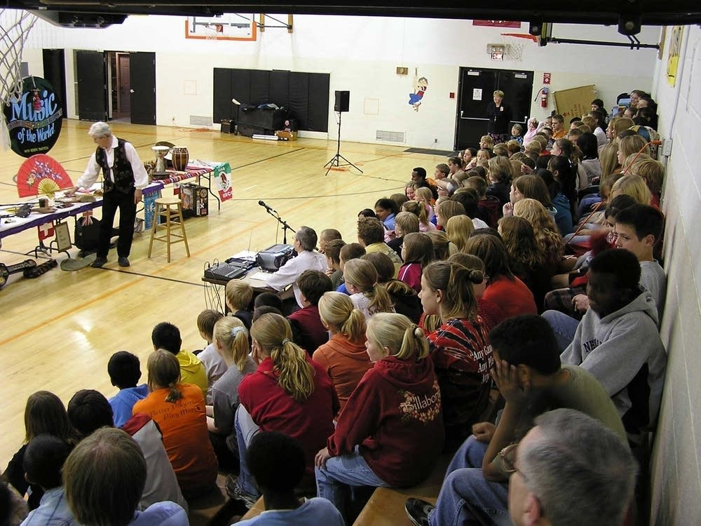 """Music of the World"" program in gym"
