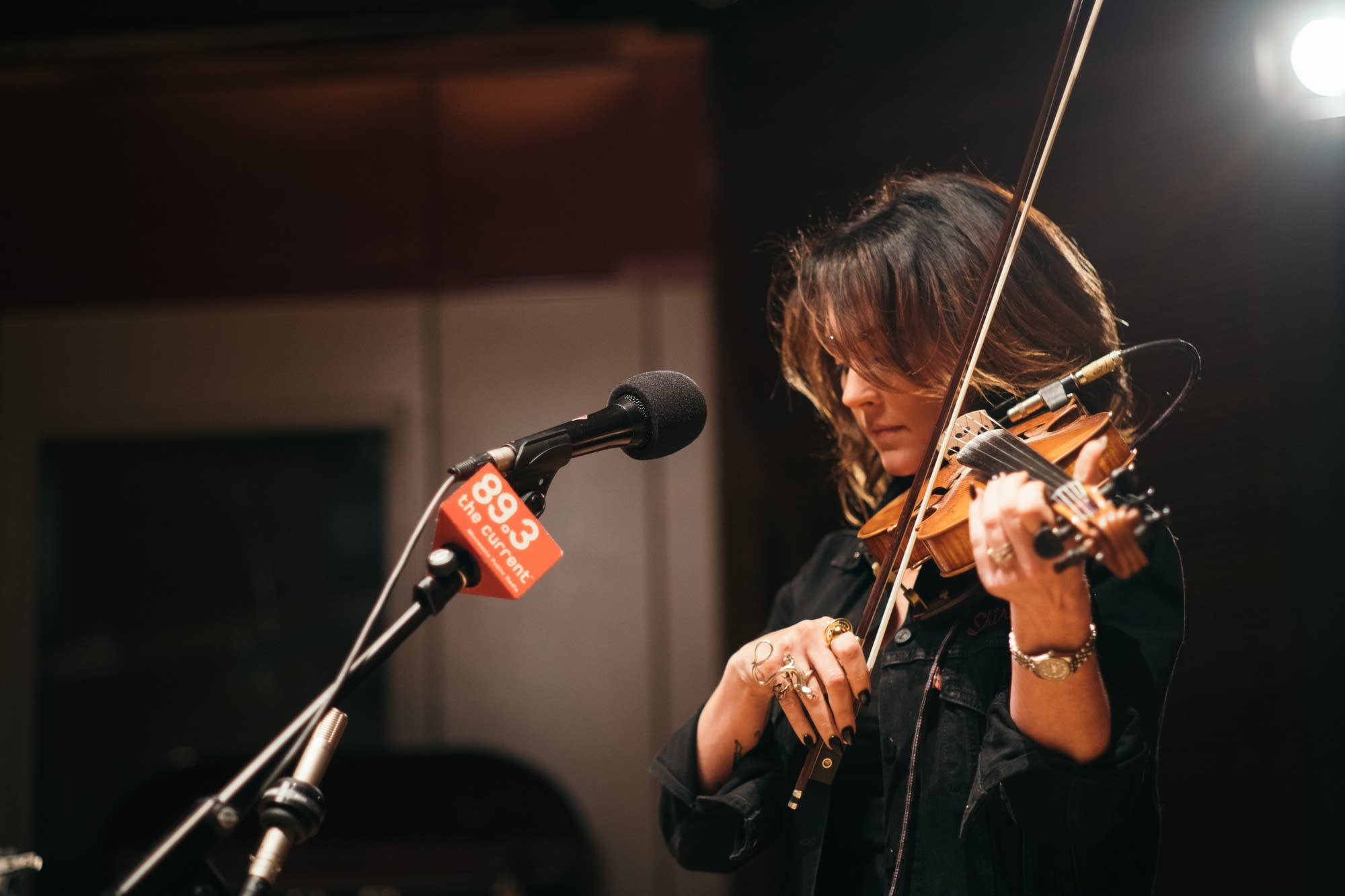 Amanda Shires performs in The Current studio