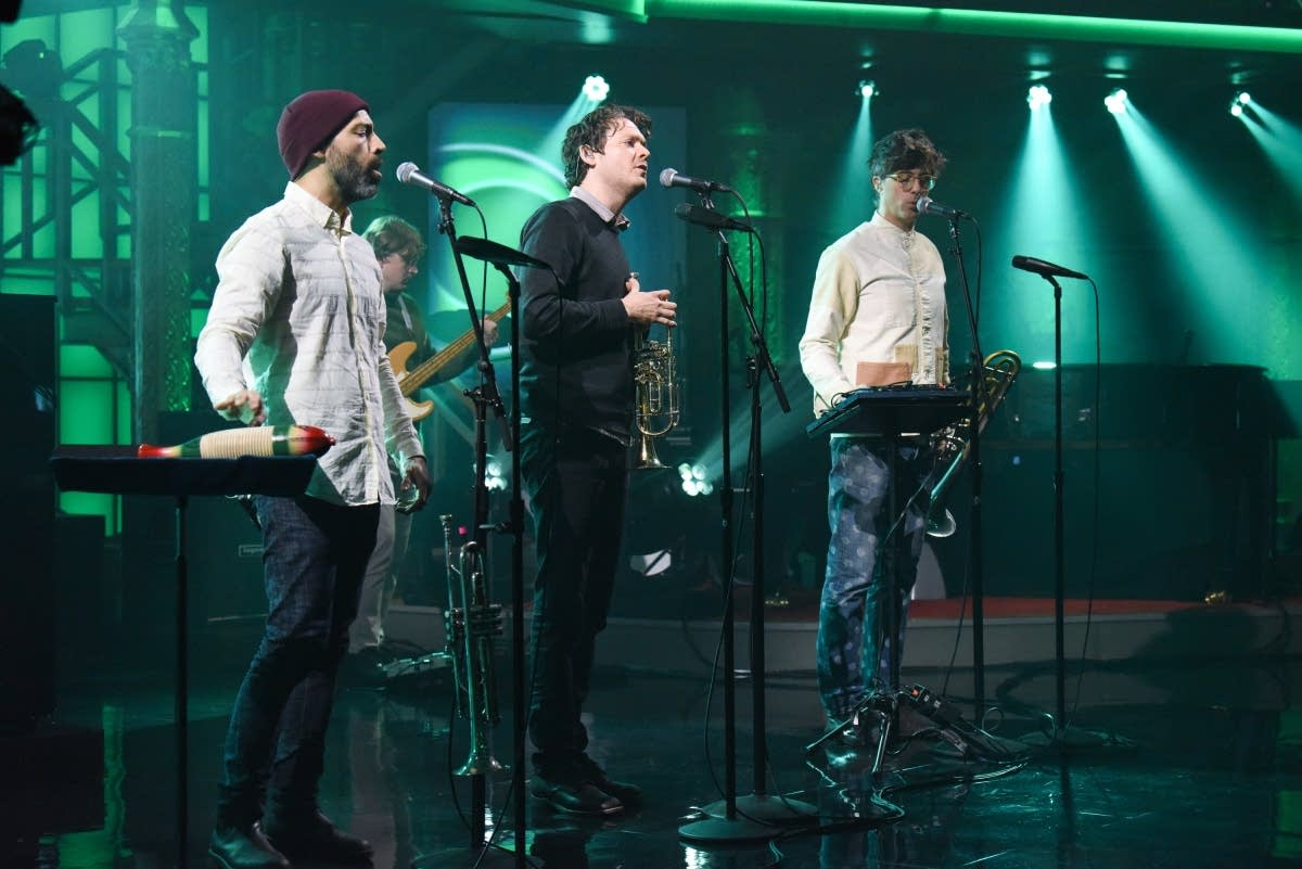Beirut perform on 'The Late Show with Stephen Colbert'