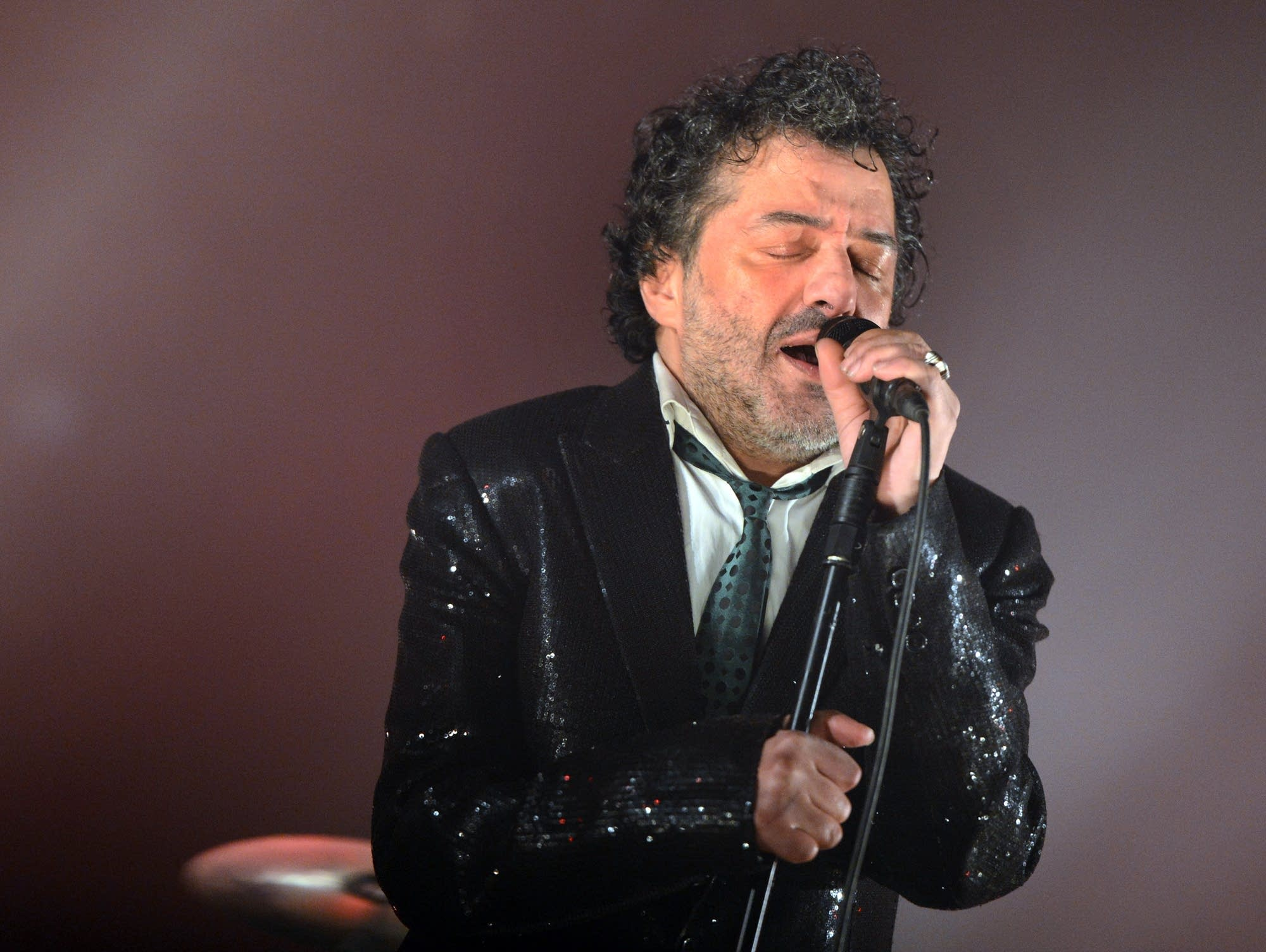 Rachid Taha performs in France, 2012.