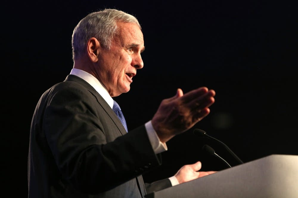 Gov. Mark Dayton thanks supporters.