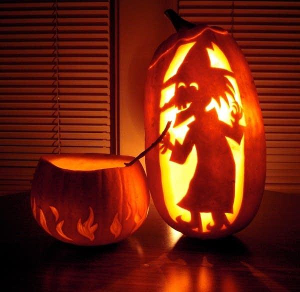 A pumpkin carved by David LaRochelle