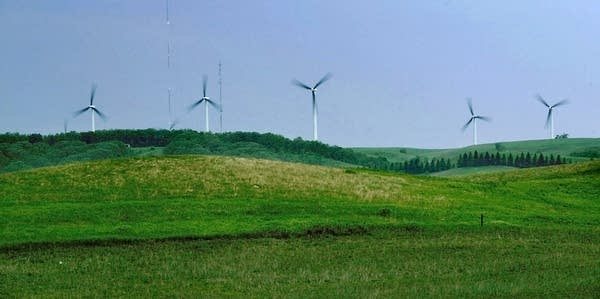Wind turbines in southwest Minnesota