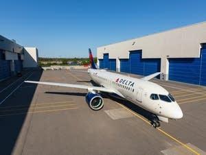 Delta's new A220 narrowbody jet.